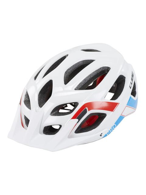 Cube Pro casco per bici bianco